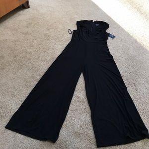 NWT! Tommy Hilfiger Sz 8, black faux wrap jumpsuit